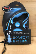 Brand New Flexi Comfort Tape Leash BLUE 16 ft , M Dogs Up To 55 lb.