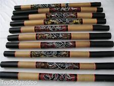 """47"""" Digeridoo Dot-Painted SNAKE Aboriginal Handwork Art +Bag+ Beeswax Mouthpiece"""