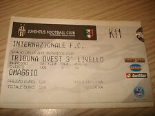 Billet Ticket Série à 2002/2003 Juventus Inter 02/03/2003 Tribune Ouest