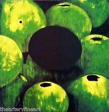 DONALD SULTAN 'Green Apples & (Black) Egg' 2000 SIGNED 30-Color Silkscreen Print