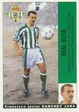 SANCHEZ JARA # ULTIMOS FICHAJES REAL BETIS STICKER CROMO PANINI LIGA 1996 ESPANA