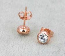 Rose Gold Filled Earrings made with Swarovski Crystal bridesmaid jewellery gift