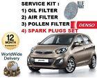 para Kia Picanto 1.2 1.25 2011> Kit de mantenimiento Filtro polen aire ACEITE +