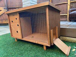 < Ideal For Single > Rabbit Bunny Guinea Pig Wooden Hutch Small Animal House