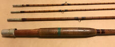 9' Devine Bamboo Rod 3 Pc. 3/2 Bamboo Fly Rod With 2 Tips About 100 Years Old
