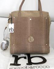 roccobarocco rb borsa donna 35x32cm pelle pu Carpet Taupe manici+tracolla €125