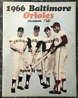 1966 Baltimore Orioles Yearbook Vintage Baseball Frank Robinson