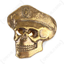 Russian Spetsnaz Skull Badge - Brass Pin Back Soviet Era Army Military Uniform