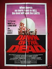 DAWN OF THE DEAD *1978 ORIGINAL MOVIE POSTER GEORGE ROMERO ZOMBIE HALLOWEEN NM-M