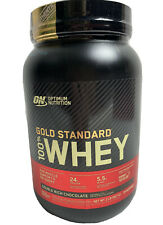 Gold Standard Whey 100% Protein 2 lb Optimum Nutrition Double Rich Chocolate 2lb