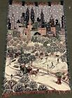 """Vintage Chatham 67"""" Central Park NYC Winter Carriage Ride Hang Tapestry Throw"""