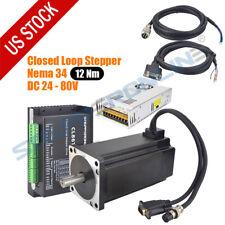12nm Nema 34 Closed Loop Stepper Motor 1712ozin Servo Driver 60v Power Supply