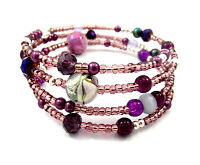 Memory Wire Bracelet Jewellery Making Kit Purple/Mauve with Instructions K0033L