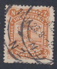 NUOVA Zelanda:1913 assicurazione sulla vita 3D yellow-brown sgl30 USATO
