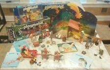 LOT Playmobil Nativity 3996 (Manger) - 3997 (Wisemen) - 3604 Santa w/ Sleigh