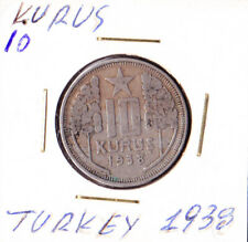 TURKEY .10 KURUS 1938.