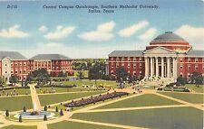 c.1940 Central Campus Quad Southern Methodist University Dallas TX post card
