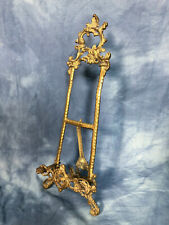 "Big Vintage 19"" Brass Frame Holder Picture Table Display Ornate"