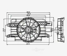 TYC 620390 Radiator And Condenser Fan Assy