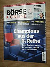 BÖRSE ONLINE 41 2020 3.Reihe Champions US-Immobilien Italien Schwarzgeld Telekom