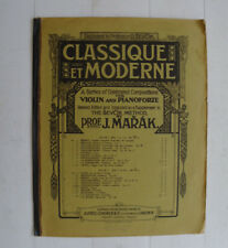 Sevcik Method by J Marak Violin and Pianoforte Sheet Music Alfred Lengnick & Co