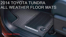 NEW 2014 - 2017 TOYOTA TUNDRA DOUBLE CAB ALL WEATHER FLOOR MATS (SET OF 3)