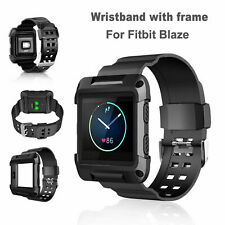 Rubber Classic Large Wristband Watch Band Strap & Frame Replaces Fitbit Blaze