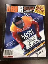 JIM SHEA Signed SI Day 13 GOLD MEDAL Salt Lake Olympic Program
