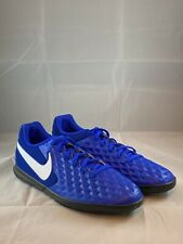 Nike Tiempo Legend 8 IC Indoor Soccer Futsal Shoes AT6110-414 Men's sz 8.5 Blue