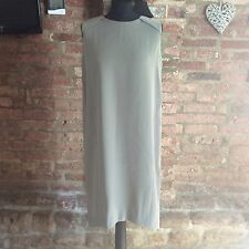 Kin by John Lewis sage green sleevless folded back dress UK size 12