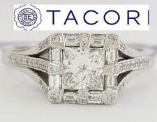 1.12 ct TACORI HT-2525 18K Princess Diamond Halo Engagement Ring E/VS1 Rtl $8.5K