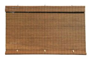 NEW Radiance Light Filtering Interior/Exterior Bamboo Roll up Shade - Fruitwood