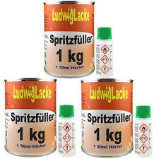 Spritzspachtel  3 x 1 kg Spritzfüller Grundierung für Autolack Lackierer