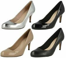 Clarks Patent Leather Mid (1.5-3 in.) Women's Heels