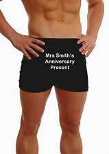PERSONALISED MENS BOXER SHORTS MRS ANNIVERSARY PRESENT GIFT UNDERWEAR HUSBAND