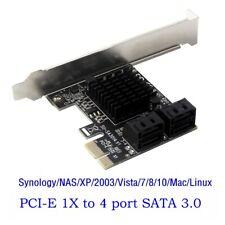PCI Express PCIe a 6G SATA 3.0 4 puertos SATA adaptador de tarjeta controladora de expansión III
