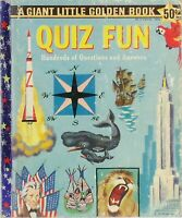 VINTAGE A GIANT LITTLE GOLDEN BOOK First Edition QUIZ FUN