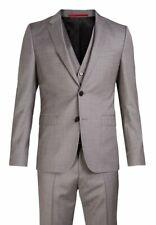 HUGO BOSS - HUGO ASTIAN HETS - 100% Wool - 3 Piece Suit - Grey - Size UK44R