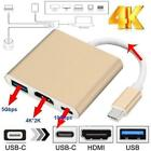 Type C USB 3.1 to USB-C 4K HDMI USB 3.0 Adapter Cable 3 in 1 Hub For Macbook Re