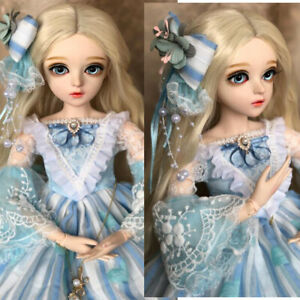 1/3 BJD Doll 60cm Ball Jointed Girl + Wigs + Shoes + Clothes + Hair + Blue Eyes