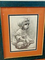 Mexican Baby Lithograph Mid Century Print Fanny Rabel Signed #7 of 250 Limited