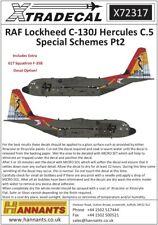 Xtradecal 72317 Decals 1/72 RAF Lockheed C-130J Hercules C.5 Special Schemes Pt2
