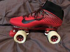 """Custom Nike """"Footie"""" PowerTrac Fan Jet Wheel BonesSwiss Derby / Speed Skate 44.5"""