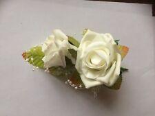Wedding Flowers  Ivory x 2   Wedding Corsage