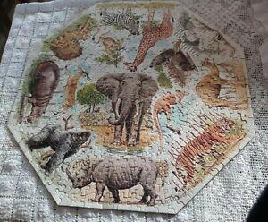 VINTAGE Springbok Jigsaw Puzzle - Zoo Animals - 1968 - 500 Pieces
