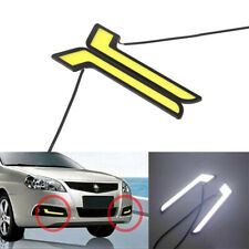1 Pair Car COB LED L-Shape Daytime Running Lights Universal DRL Fog Driving Lamp