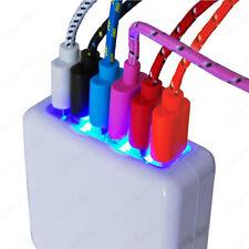 6 Fach Multi USB Hub Ladegerät Netzteil Wand Adapter Universal für Handy Tablet