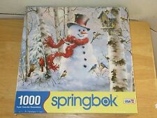 Sealed Winter Friends Springbok Jigsaw Puzzle 1000 Piece Snowman New Made in USA