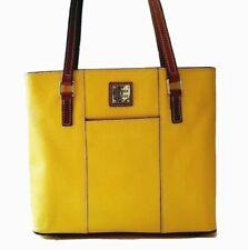 AUTHENTIC DOONEY & BOURKE PEBBLE LEATHER YELLOW LEXINGTON SHOPPER BAG S#M0777127