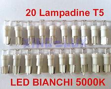 20 Lampadine LED T5 ANGEL EYES 5000K CRUSCOTTO STRUMENTAZIONE TUTTOVETRO bianche